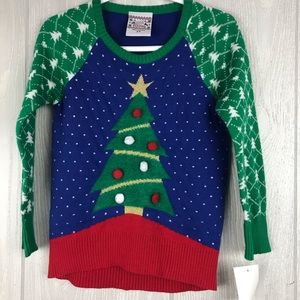 Well Worn holiday Christmas tree knit sweater